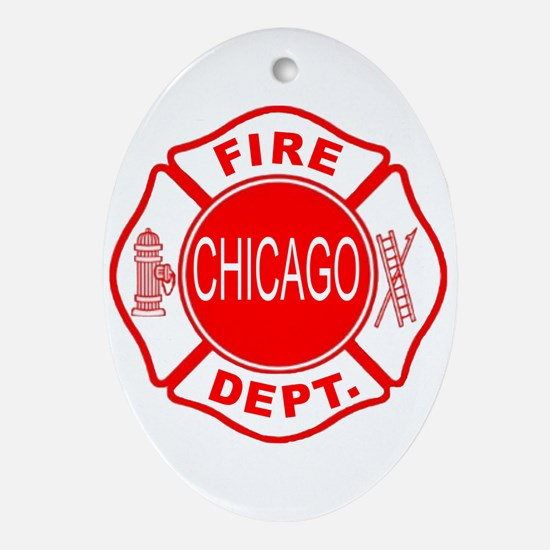 Chicago Firedepartment Ornament (Oval)