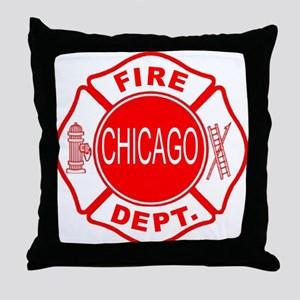 Chicago Firedepartment Throw Pillow