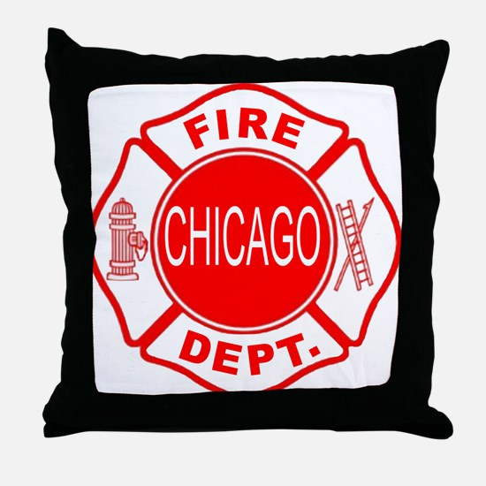 Chicago Firedepartment Throw Pillow