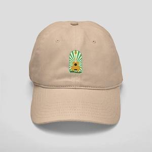 Green Sunburst Ukulele Cap