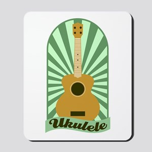 Green Sunburst Ukulele Mousepad