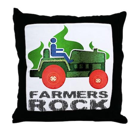 Farmers Rock Throw Pillow