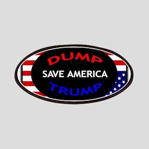DUMP TRUMP SAVE AMERICA DISTRESS FLAG Patch