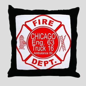 Engine 63 Throw Pillow