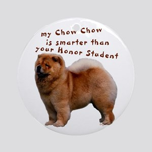 smart chow Ornament (Round)