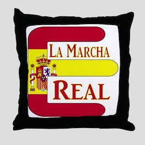 E Spain Throw Pillow
