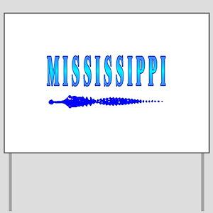 Mississippi Gator t-shirt sho Yard Sign