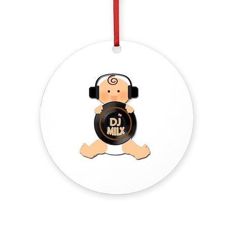 Baby DJ with Headphones Ornament (Round)