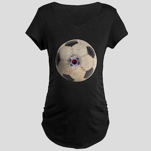 South Korea Football Maternity Dark T-Shirt