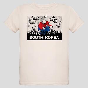 South Korea Football Organic Kids T-Shirt