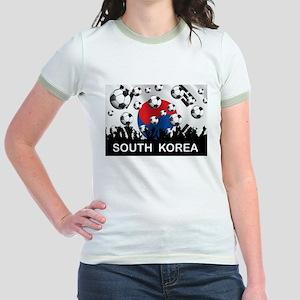 South Korea Football Jr. Ringer T-Shirt
