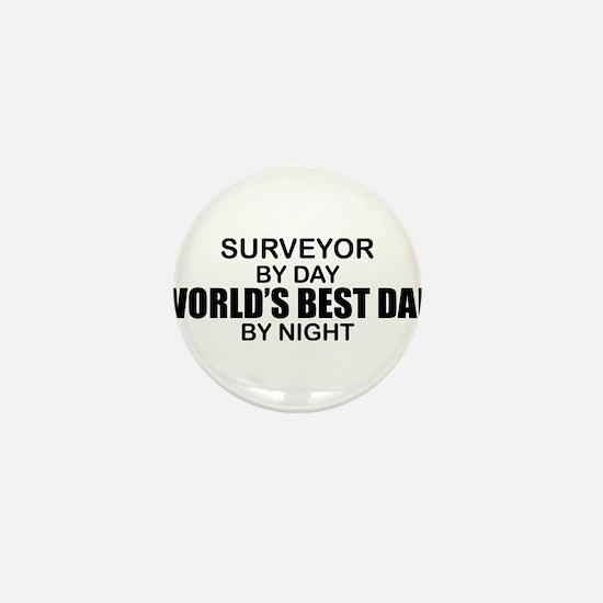 World's Best Dad - Surveyor Mini Button