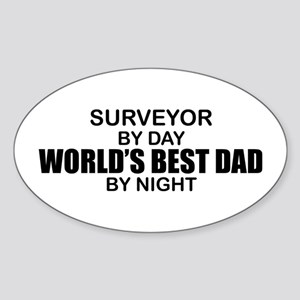 World's Best Dad - Surveyor Sticker (Oval)