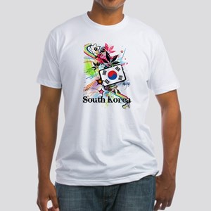 Flower South Korea Fitted T-Shirt