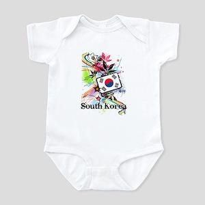 Flower South Korea Infant Bodysuit
