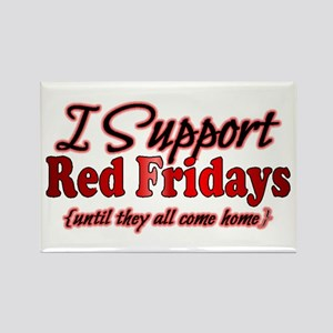 I support Red Fridays Rectangle Magnet