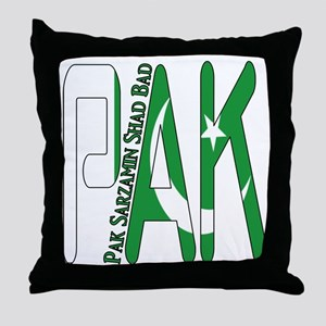 PAK Pakistan Throw Pillow