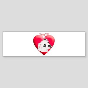 Valentines American Bulldog P Bumper Sticker