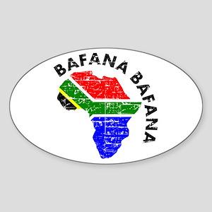 Bafana bafana of South Afica Sticker (Oval)