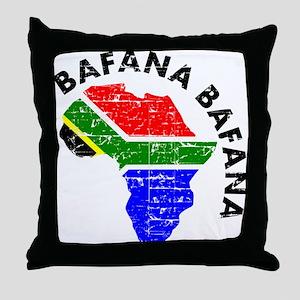 Bafana bafana of South Afica Throw Pillow