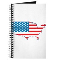 America Flag 4th July Journal