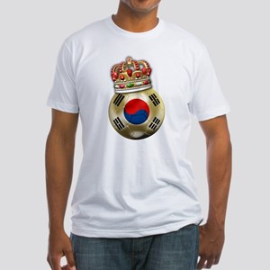 South Korea King Of Football Fitted T-Shirt