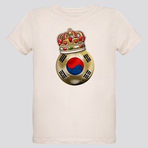 South Korea King Of Football Organic Kids T-Shirt