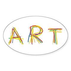 Art Sticker (Oval 10 pk)