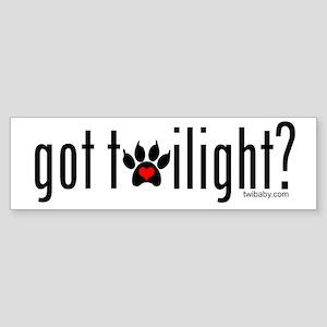 got twilight? by twibaby Sticker (Bumper)