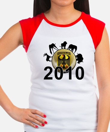 Germany World Cup 2010 Women's Cap Sleeve T-Shirt