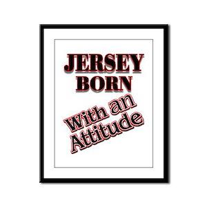 born in Jersey Framed Panel Print