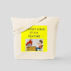 tech support geek joke Tote Bag