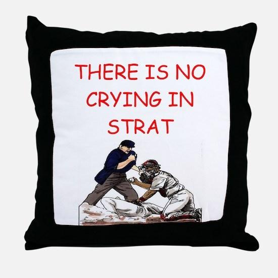 strat-o-matic baseball joke Throw Pillow