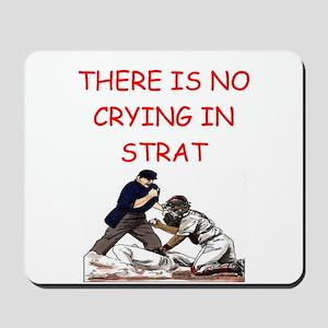 strat-o-matic baseball joke Mousepad
