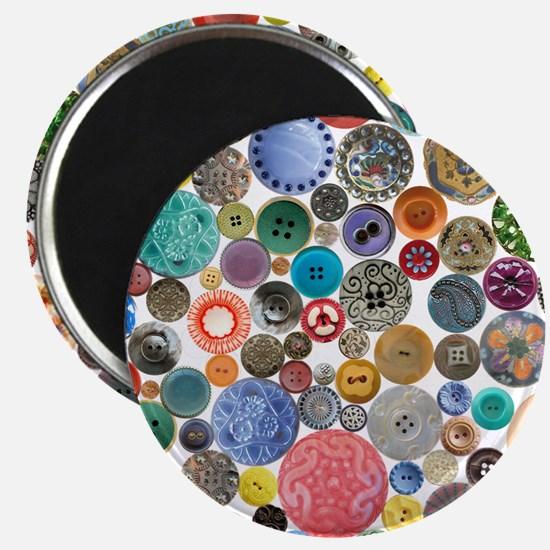 Button Collage Fun Stuff Magnet