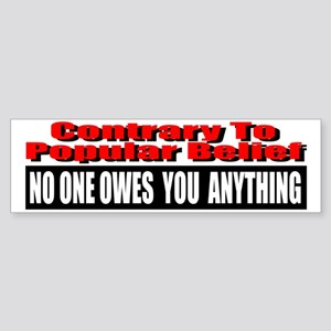 No One Owes You Anything Sticker (Bumper)