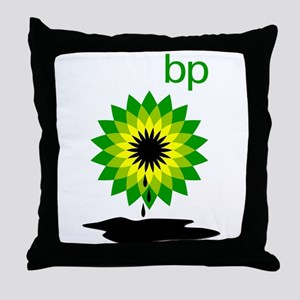 BP Oil... Puddle Throw Pillow