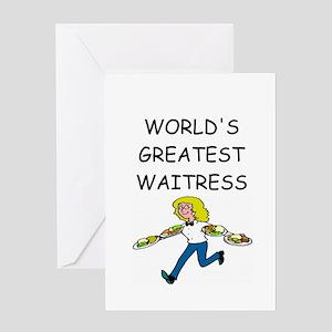 world's greatest waitress Greeting Card