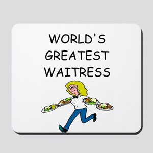 world's greatest waitress Mousepad