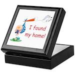Baby Finds Home Keepsake Box