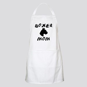 Boxer Mom Head Study BBQ Apron