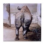Tile Coaster - Rhino's Butt