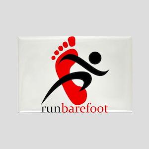 runbarefoot Rectangle Magnet