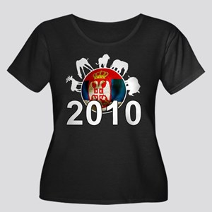Serbia World Cup 2010 Women's Plus Size Scoop Neck