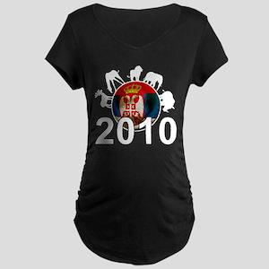 Serbia World Cup 2010 Maternity Dark T-Shirt