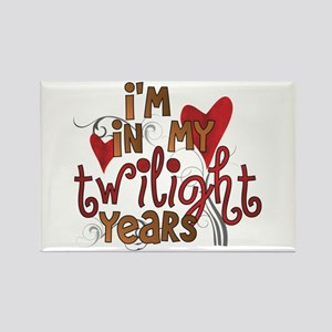 Funny Twilight Years Rectangle Magnet