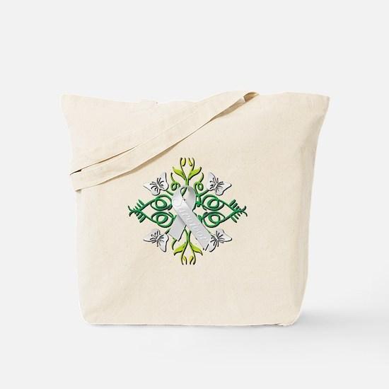 White Survivor Tote Bag