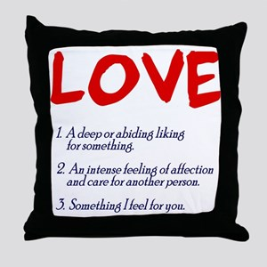 love defined Throw Pillow