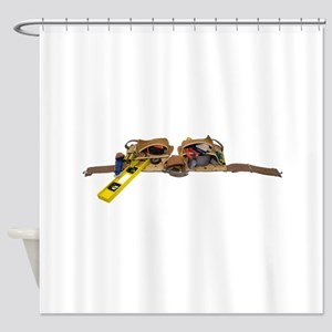 ToolBeltStretch071809 Shower Curtain