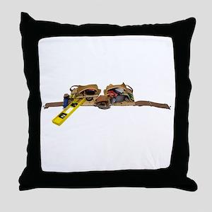 ToolBeltStretch071809 Throw Pillow